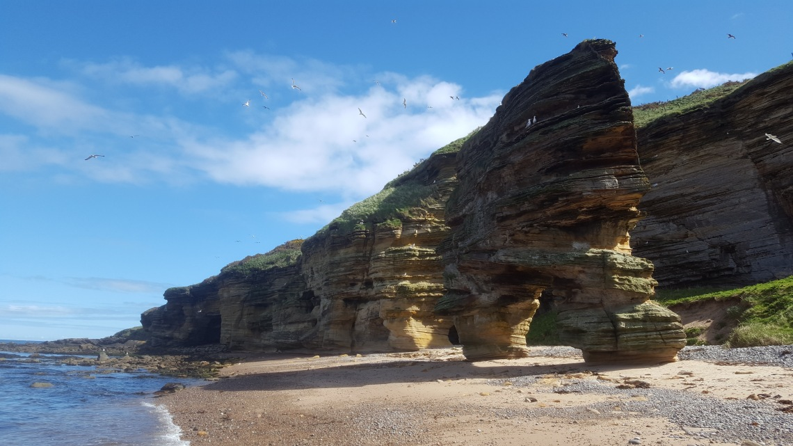 Sculters Cave beach Lossiemoiuth Scotland 27.04.18 20180427_130830 copy